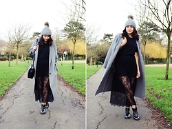 Julia Litvin - Zara Skirt, Respect Boots, Simple Coat - Lace Skirt
