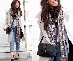 Sindy N - Top, Jeans, Trench, Scarf - The Classic Trench