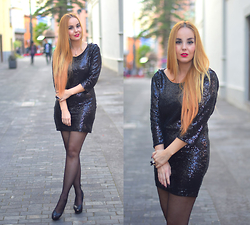 Nery Hdez - Yoyomelody Dress, Luxury For Princess Hair Extensions - Black Sequins