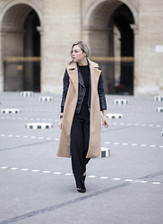 Lian G. - Missuided Coat, H&M Trousers, Manolo Blahnik Shoes - Sleeveless coat
