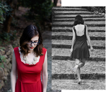 Lix H. - Zaful Red Dress, Specspost Glasses, Happiness Boutique Necklace, Next Mary Jane Heels - Class. And dignity. And savoir faire.
