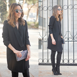 Besugarandspice FV - Christian Dior Sunnies, Zara Dress, Mango Boots, Dayaday Clutch, Bulgari Ring - Tuxedo Dress