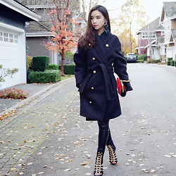 Shelly LIU - H&M Coat, Balmain Shoes - HMBALMAINATION