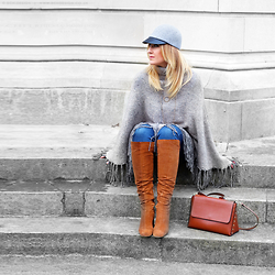 Mad Cat Fashion P. - Zara Suede Boots, H&M Jockey Hat - MyLook #55