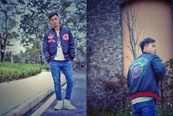 Chris Su - Adidas Jacket, Boy London Tee, Neil Barrett Sneakers - Sporty