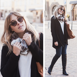 Bryn Newman (Stone Fox Style) - Sam Edelman Sweater, Cole Haan Boots - One Day In Austria