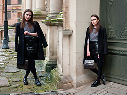 Anna Puzova - Capriola Coat, H&M Shirt, Next Top, Asos Skirt, Have2have Shoes, Vintage Bag - All Shine Everything
