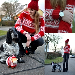 Jessica N. - William Dog, Tally Weijl Sweater - Merry Christmas