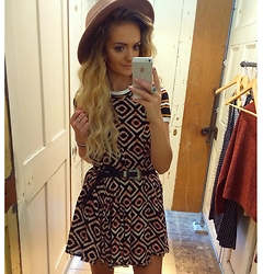 Amy Hallimond - Urban Outfitters Dress, Urban Outfitters Top, Primark Belt, Primark Hat - Print clash