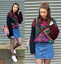 Nichola Rose - Urban Outfitters Jumper, Pull & Bear Skirt - VINTAGE RENEWAL