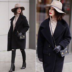 Sonya Karamazova - Sophie Hulme Bag, Michael Stars Hat - WINTER