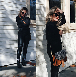 Allison K - Topshop Sweater, Aldo Snake Skin Bag, Solestruck Tba - I May Take Your Breath Away