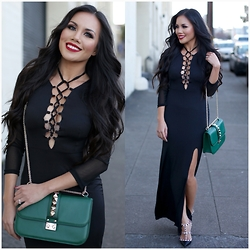 Rachel Vogt - Dress, Valentino Rockglam, Valentino Rockstud, My Blog - Lacee-up