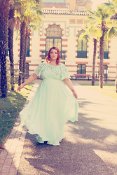 Audrey G. - Asos Curve Maxi Mint Green Dress - Happy New Year !