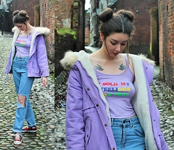 Nichola Rose - Omighty Crop Top, The Ragged Priest Jeans - MATCHY MATCHY LILAC