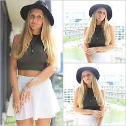 Hanna Renevi - Supré Crop Top, H&M Skirt, H&M Hat - When I wake up in the morning feel the sun shine on my face
