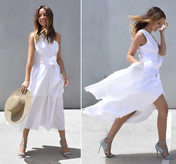 Friend in Fashion * - Summer Dress, Lace Up, Straw - SUMMER STATEMENT