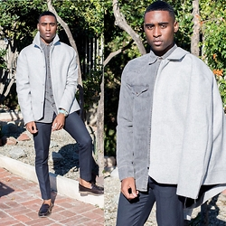 Willie Sparks - Topman Coat, Levi's® Demin Shirt, H&M Trousers, Topman Shoes - Grey Day