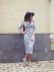 Oxana Udovenko - Wholesalebuying Pencil Solid Casual Dress - In the city of cooled sea.