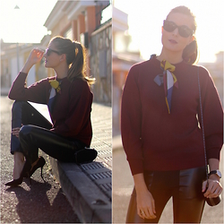 Marianela Yanes - Sheinside Jersey, Queens Wardrobe Leggins - Bow Top