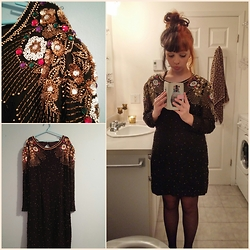 Molly Girard - Thrifted Vintage Beaded Dress - New Year, Same Me