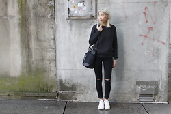 Candy Rosie - Boohoo Sweaters, Boohoo Bag, Boohoo Jeans, Reebok Sneakers - #5 FrenchStyle Rules