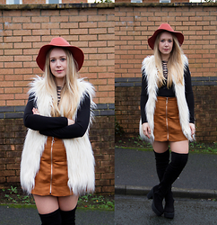 Emma Reay - Select Suede Tan Skirt, South Avenue Lace Up Black Body Top - Styling My January Sale Favourites