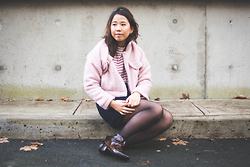 Marissa Hooi - Forever 21 Pink Coat, Old Navy Skirt, Topshop Ankle Boots - Sweetest Kill