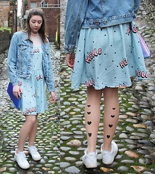 Nichola Rose - Lazy Oaf Dress, Trendy Legs Tights - TRENDY LEGS