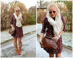 Gosia Borychowska - Orsay Dress, Wholesale7 Bag, Wholesale7 Scarf - Mini dress for winter