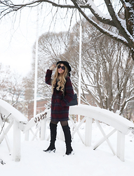 Anna Wiklund - Rebecca Minkoff Bag, Over Knee Boots - WINTER WONDERLAND