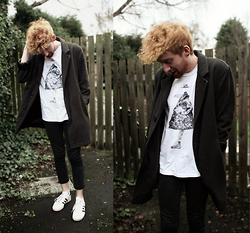 Robbie Cook - Topman Coat, American Apparel Invisible Man Tee, Adidas Trainers - I used to wear colours