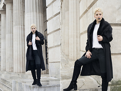 Borjana R. - Sheinside Coat - Black long coat