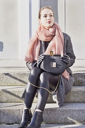 Ina Nuvo - Mango Ankle Boots, Vero Moda Leather Pants, Chloé Bag, H&M Scarf, Drykorn Coat - Ohh, Chloé