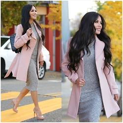 Rachel Vogt -  - Big Hair. Pink coat