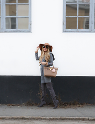 Anna Wiklund - Michael Kors Bag, Faux Fur Ball, Hooded Coat - YES I LOVED YOU DEARLY