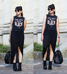Camilla Marques - Zara Bagpack, Forever 21 Shirt - Look do Dia: Good Girls Wear Black