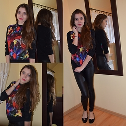Karolina G. - H&M Blouse/Sweater, Wojas Shoes, Goodies Legginsy - Vivid splaches