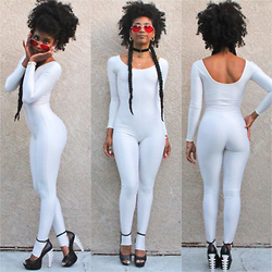 Robyn The Bank - None Vintage Catsuit - Milky Way