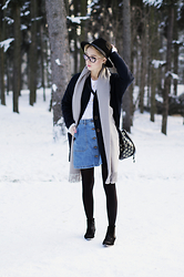 Olga Oktawia - Lee Coat, Medicine Hat, Medicine Scarf, Zara Skirt, Liu Jo Bag, Medicine Boots - Winter winds
