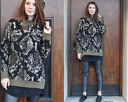 Alex Schott - Edited The Label Pullover, H&M Leather Trousers, Asos Shoes, Edited The Label Blouse - I'M EDITED