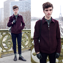 "Matthias C. - Ted Baker Harrington Jacket, Asos Zipped Jeans, Gc Watches Watch, Dries Van Noten Shirt, Maison Fabre Gloves - ""Mirabeau"""