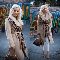 Eleonora Petrella - Oasap Camel Coat - Camel coat addiction