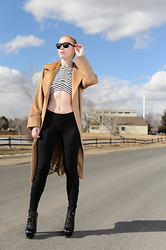 Jacqueline Rose - Oliver Peoples Sunglasses, Max Mara Camel, Alice Mccall Crop, Haute Hippie Leggings, Gucci Ankle - Tonic
