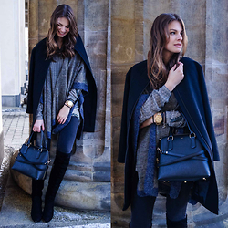 Jacky - Vila Cape, Gina Tricot Jeans, Joop! Bag, Duo Overknees, Cos Coat - Berlin Fashion Week Outfit #2