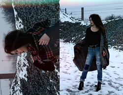 Velvetindustry - Pull & Bear Scarf, Soorty Jeans, Zara Boots, Gucci Leather Belt - Meeting with grunge