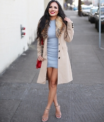 Rachel Vogt - Allure Accents Dress, My Blog, Stuart Weitzman Shoes - Space of Gray