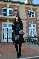 Rachel Vogt - Forever 21 Sweater, Zara Skirt, Mackage Wool/Leather Coat, My Blog - Dark mood