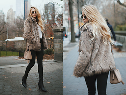 Payton Sartain - Fur Jacket, Booties - Faux Fur Fanatic