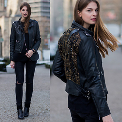 Jacky - Rich & Royal Leather Jacket, Rebecca Minkoff Bag, Zara Jeans - Berlin Fashion Week Outfit #5